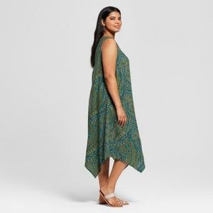 [Plus: 3X] Ava & Viv - Printed Aline Dress